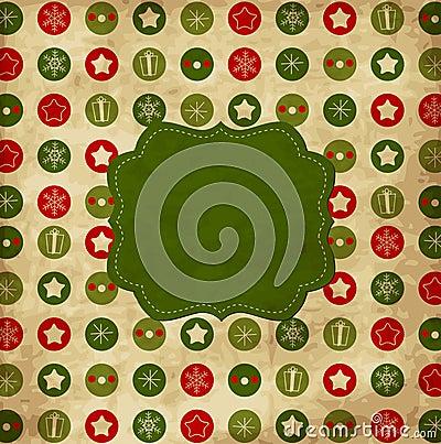 Free Vintage Christmas Card Stock Photo - 22279900