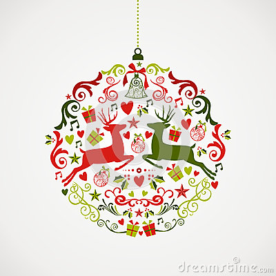 Free Vintage Christmas Elements Bauble Design EPS10 Fil Royalty Free Stock Image - 33756316