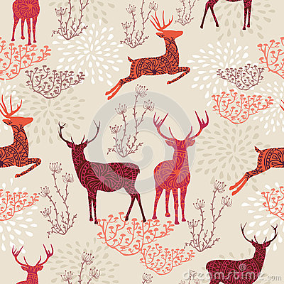 Free Vintage Christmas Elements Seamless Pattern Backgr Stock Image - 33756621