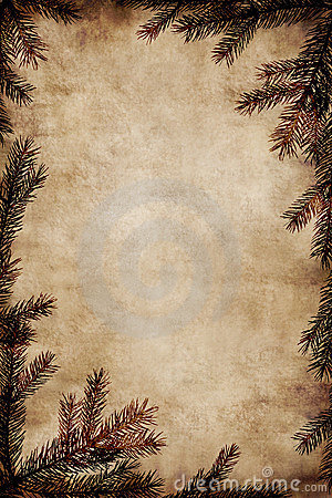 Free Vintage Christmas Frame Royalty Free Stock Photography - 1521037
