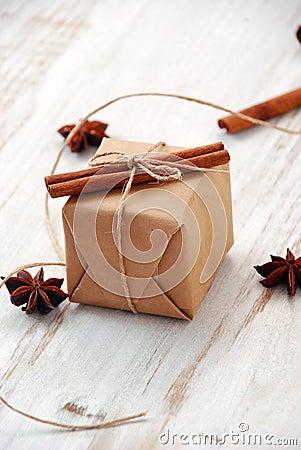 Vintage Christmas gift box