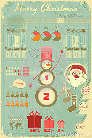 Template For Infographic About Christmas With With A Snowman Stock ...