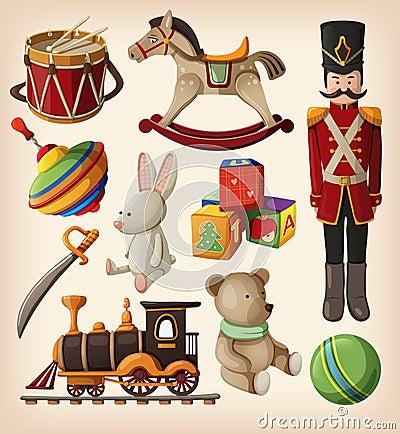 Free Vintage Christmas Toys Stock Image - 27832841