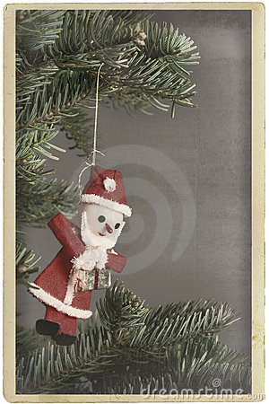 Vintage christmas tree ornament Santa Claus