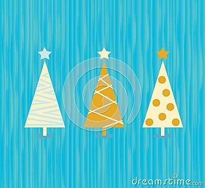 Vintage christmas tree pattern