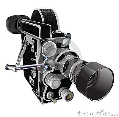 Vintage cinema camera