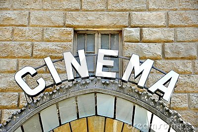 Vintage cinema sign in Italy