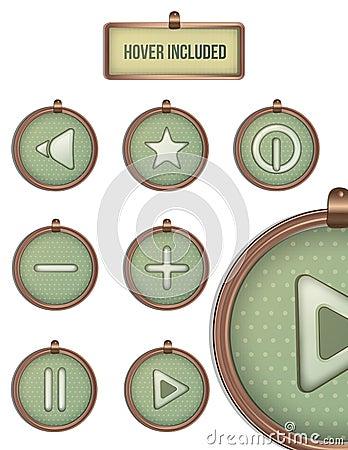 Vintage circle icons