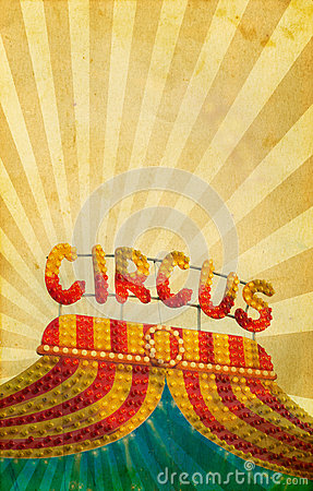 Free Vintage Circus Poster Background Royalty Free Stock Photography - 33455177
