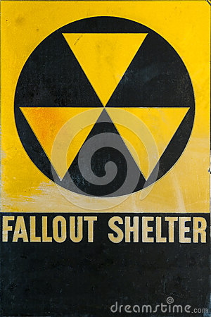 Vintage Civil Defense Fallout Shelter Refuge Sign