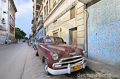Vintage classic american car. HAVANA 9 JULY Editorial Photo