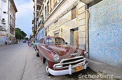 Vintage classic american car. HAVANA 9 JULY Editorial Photo