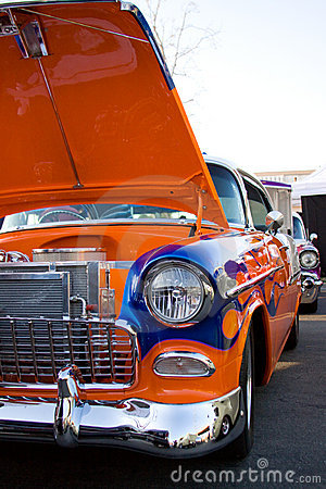 Vintage classic hot rod car