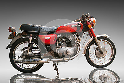 Vintage Classic motorcycle honda 125 cc. Editorial Use Only. Use Editorial Image