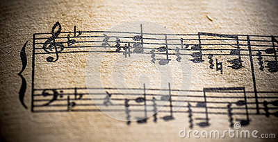 Vintage Classical Music Score