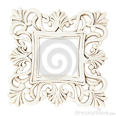 Free Vintage Classical White Rectangle Frame Royalty Free Stock Photo - 84119705