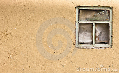 Vintage clay texture old wall with a window(0).jpg