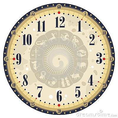 Vintage Clock Face Template Stock Photos, Images, & Pictures - 67 ...