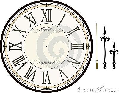 Vintage clock face template