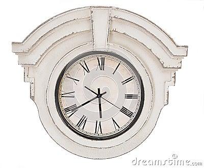 Vintage clock isolated