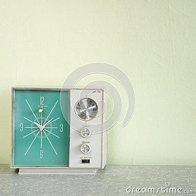 Vintage clock radio.