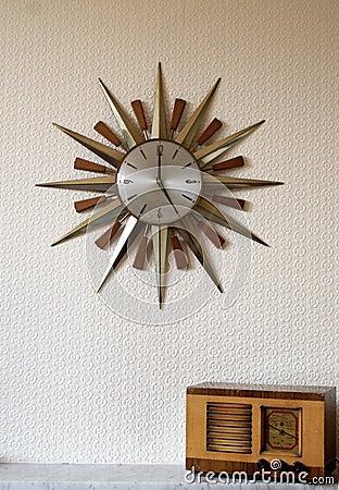 Vintage Clock and Radio