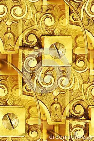 Vintage clockworks abstract
