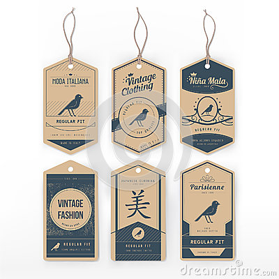 Free Vintage Clothing Tags Stock Photos - 45419293
