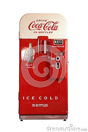 Free Vintage Coca-Cola Vending Machine Royalty Free Stock Photography - 30495447