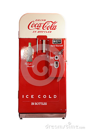 Vintage Coca Cola Vending Machine Editorial Photography