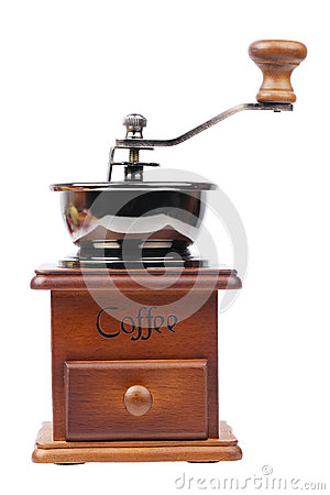 Free Vintage Coffee Mill Isolated On White Stock Images - 38618424