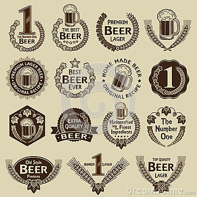 Free Vintage Collection Beer Seals & Marks Stock Photos - 29830893