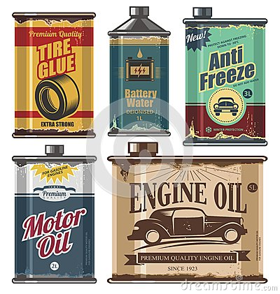 Free Vintage Collection Of Car And Transportation Related Products Royalty Free Stock Photos - 31715358