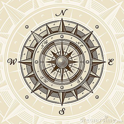 Free Vintage Compass Stock Photography - 24024572