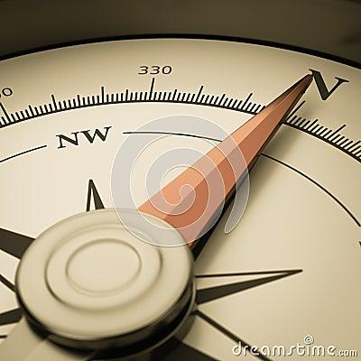 Vintage Compass Close-up Stock Photo