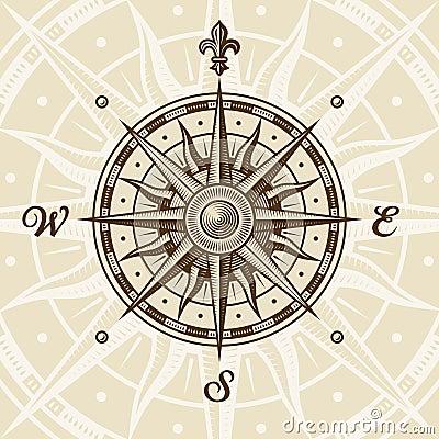 Free Vintage Compass Rose Stock Photo - 16236440
