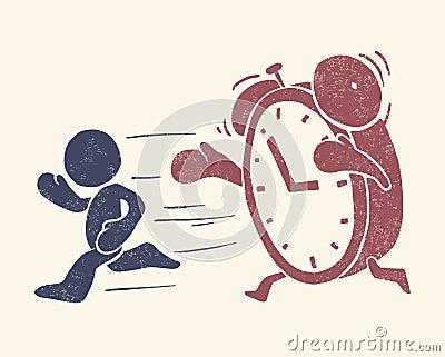Vintage conceptual illustration of time