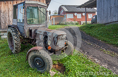Vintage country tractor