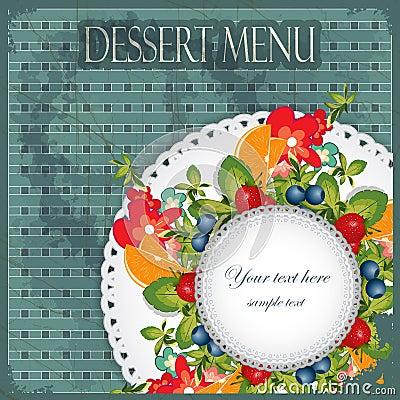 Vintage Cover Dessert Menu