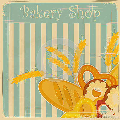 Vintage cover menu for Bakery
