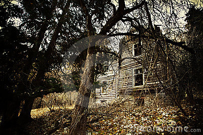 Vintage creepy house