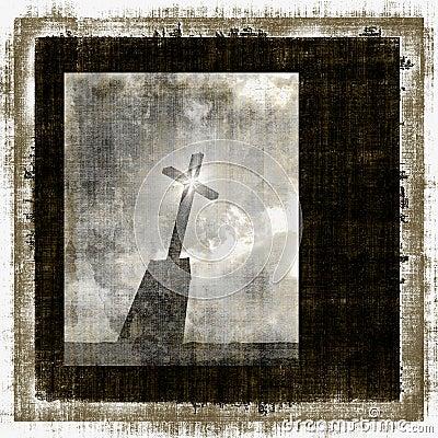 Vintage Cross Grunge