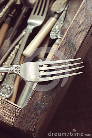 Free Vintage Cutlery Royalty Free Stock Photos - 66517878