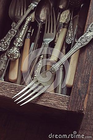 Free Vintage Cutlery Stock Image - 66522781