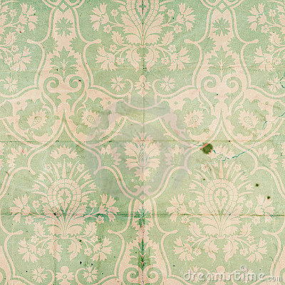 Free Vintage Damask Scrapbook Background Pattern Stock Images - 17296334