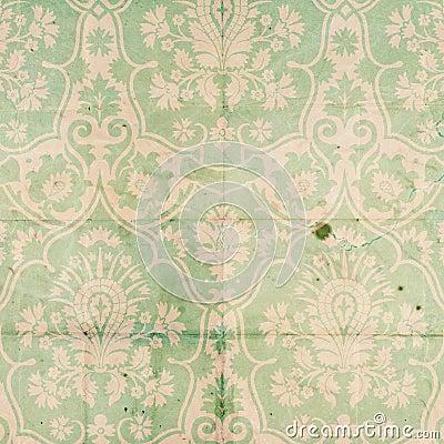 Vintage Damask Scrapbook background pattern