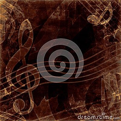 Vintage dark notes