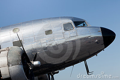 Vintage DC-2 Propeller Airplane
