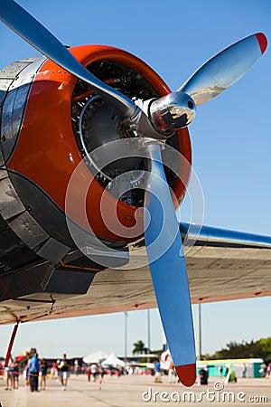 Vintage DC-3 airplane engine