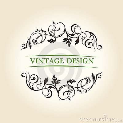 Vintage decor label ornament design emblem